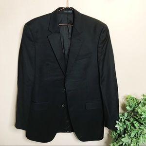 Men's 40L 100% wool classic fit black sport coat